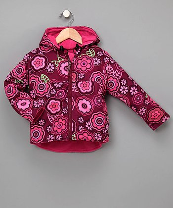 Outside Baby Apparel - Berry Flower Reversible Two-Layer Windproof Jacket