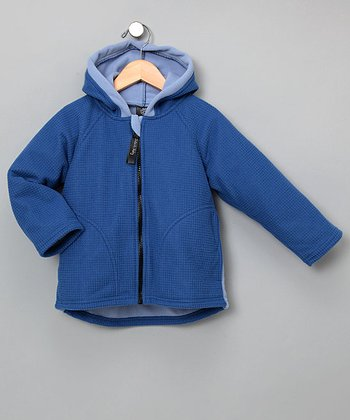 Outside Baby Apparel - Blue & Lake Waffle Windproof Jacket