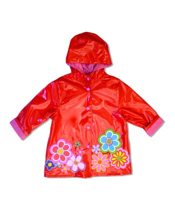 Tomato Flower Raincoat - Infant, Toddler & Girls