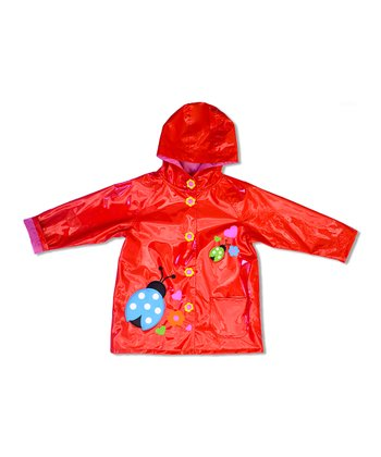 Tomato Ladybug Raincoat - Toddler & Girls