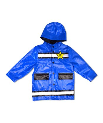 Royal Blue Police Raincoat - Toddler & Boys
