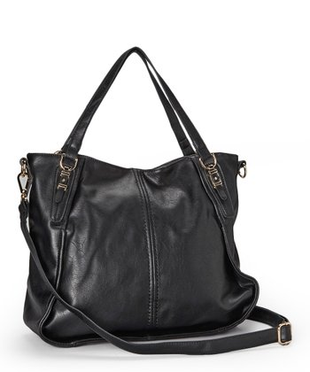 Black V. Channel Tote