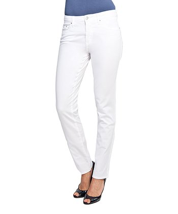 White Heart Pocket Bootcut Jeans