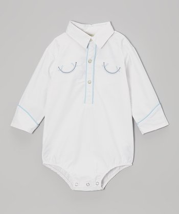 White Western Bodysuit - Infant