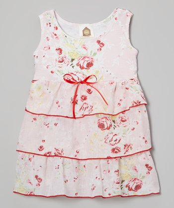 Pink Cabbage Roses Havana Organic Dress - Infant & Toddler