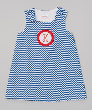 Navy Zigzag Initial Jumper - Infant & Toddler