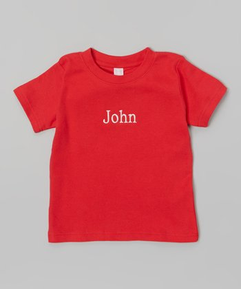 Red Personalized Tee - Infant, Toddler & Kids