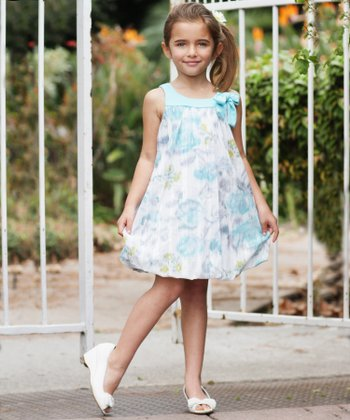 Aqua Bubble Dress - Girls