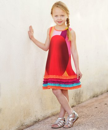 Orange Ruffle Dress - Toddler & Girls