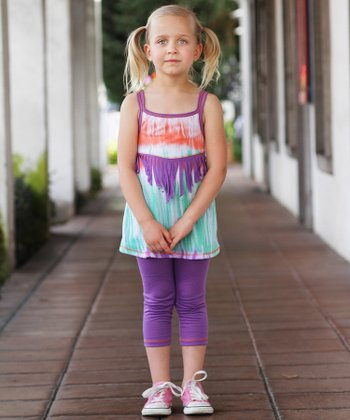 Purple Fringe Tunic & Leggings - Toddler & Girls