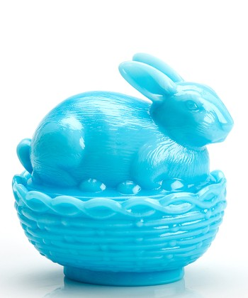 Bonnie Blue Bunny & Basket Covered Dish