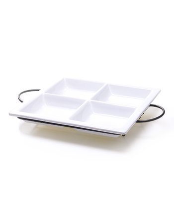 Four-Section Relish Tray & Rack