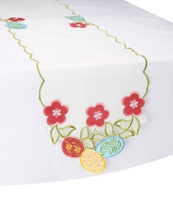 Floral Cutout Table Runner