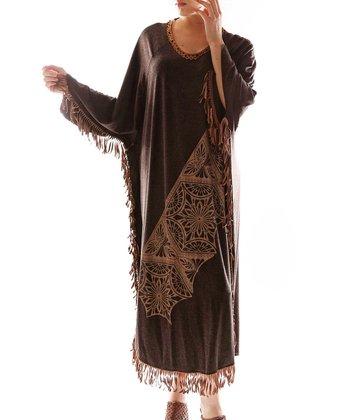 Brown Dolman Dress - Plus