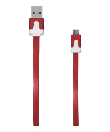Red Micro USB Charging Cable
