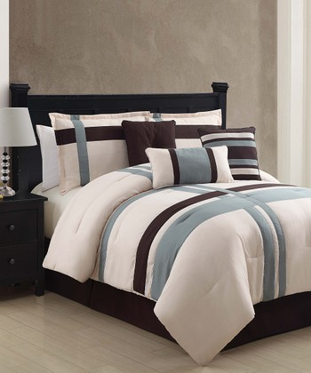 Ivory Berkley Comforter Set
