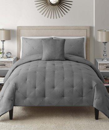 Gray Charlotte Comforter Set