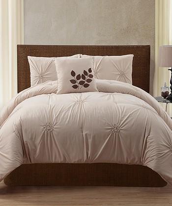 Taupe London Comforter Set