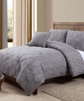 Gray Nora Comforter Set