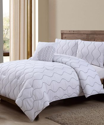 White Nora Comforter Set