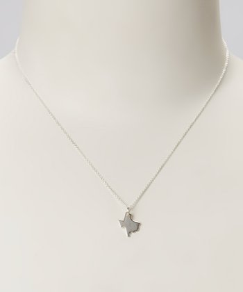 Sterling Silver Texas Pendant Necklace
