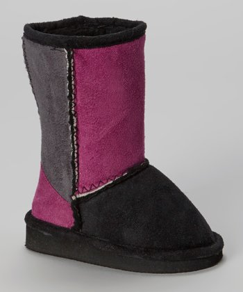 Fuschia & Black Betty Boot