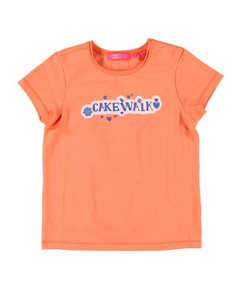 Peach 'Cakewalk' Tee - Infant, Toddler & Girls