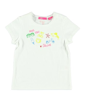 White 'Beach Time' Tee - Infant & Toddler