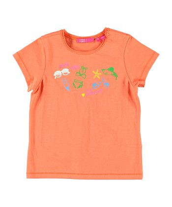 Peach 'Beach Time' Tee - Infant, Toddler & Girls