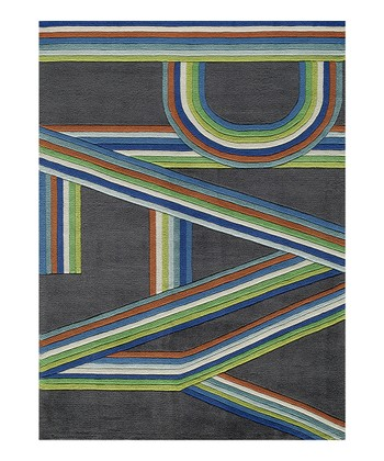 Gray & Blue 'Play' Rug