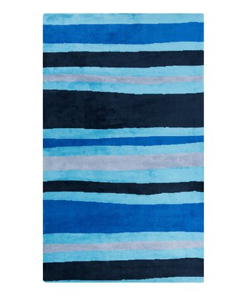 Blue Sea Stripe Abigail Rug