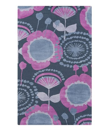 Blue Dot & Flower Abigail Rug