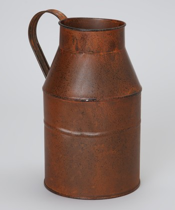 Brown Large Rustic Milk Can