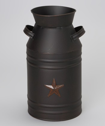 Black Star Milk Can