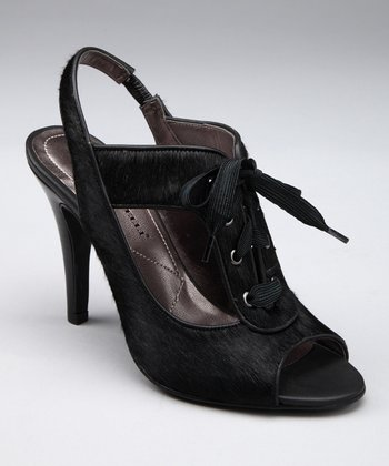 Black Carry Slingback Pump
