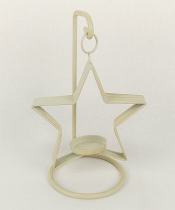 Off-White Small Star Tealight Candleholder