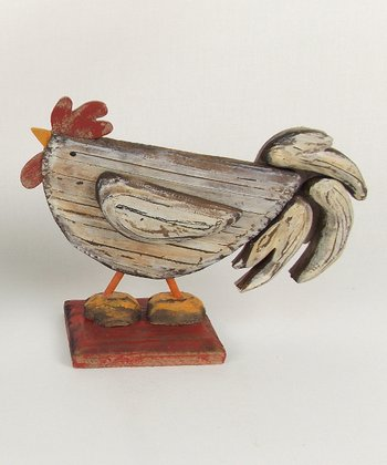 Tail Down Rooster Figurine