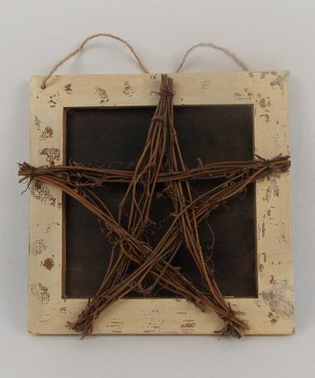 Brown Wicker Star Plaque