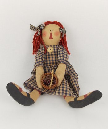 Raggedy Anne & Wicker Basket Plush Figurine