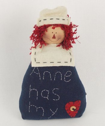 Andy Heart Rag Doll Plush Figurine