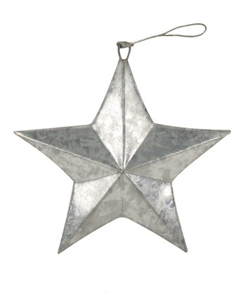 Silver Tin Hanging Star