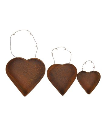 Rustic Hanging Heart Set