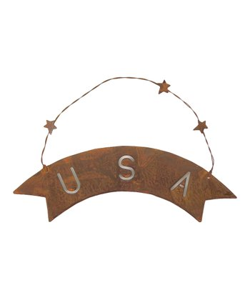 Rustic 'USA' Sign