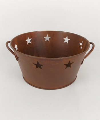 Rust Star Cutout Container