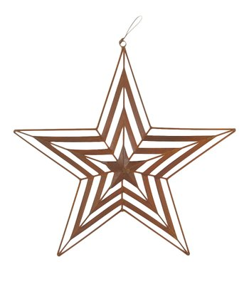 Rustic Cutout Hanging Star