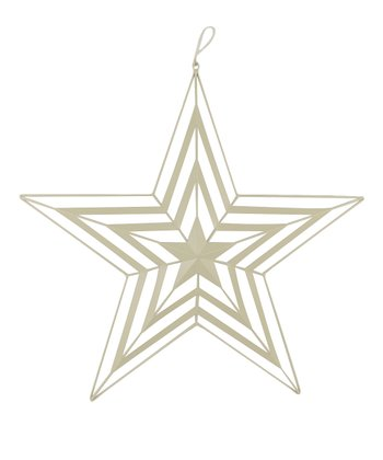 Off-White Cutout Hanging Star