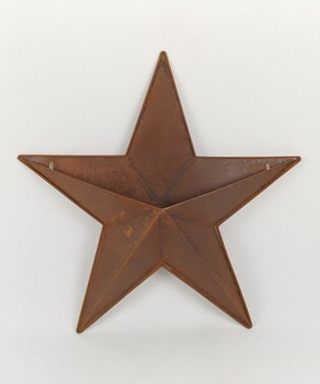 Rustic Tin Star 15'' Container