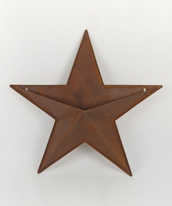 Rustic Tin 18'' Star Wall Container