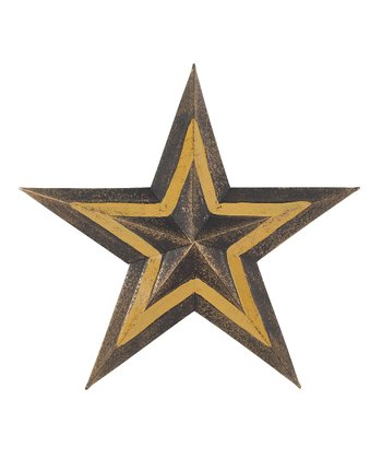 Gold & Black Hanging Star