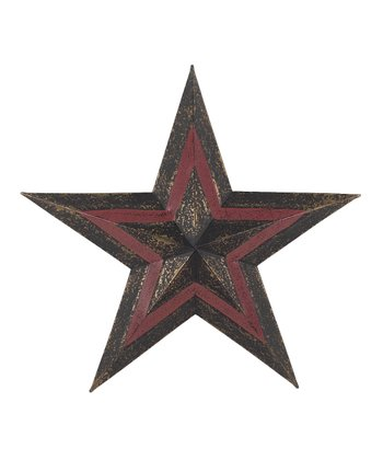 Black & Red Hanging Star